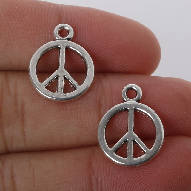 10pcslot zinc alloy antique silver plated peace sign charms 10pcslot zinc alloy antique silver plated peace sign charms pendants jewelry making diy accessories mozeypictures Image collections
