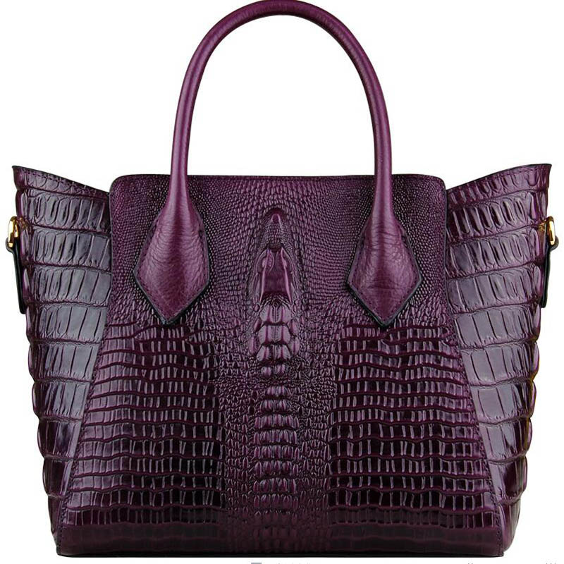 LUOFEIHUA  2020 new high-end leather handbags crocodile pattern handbag Fashion leather handbag shoulder messenger bag