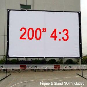 Горячая Распродажа 200 дюймов 4:3 HD портативная белая холщовая передняя/задняя проекционный экран занавески пленка для цифрового проектора д...