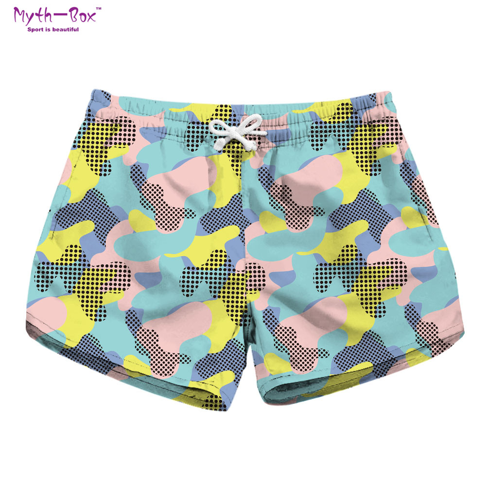 Summer Women Beach Shorts Drawstring Pants Camouflage Print Water Sports Surf Board Shorts Quick Dry Pocket Travel Surf Swimwear