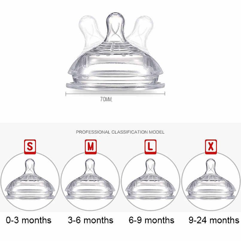 ธรรมชาติ Pacifier Anti - Colic หัวนมขนาดกลางเด็กนมขวดเปลี่ยน Venting 0-18 เดือนทารกกว้างปากนุ่ม
