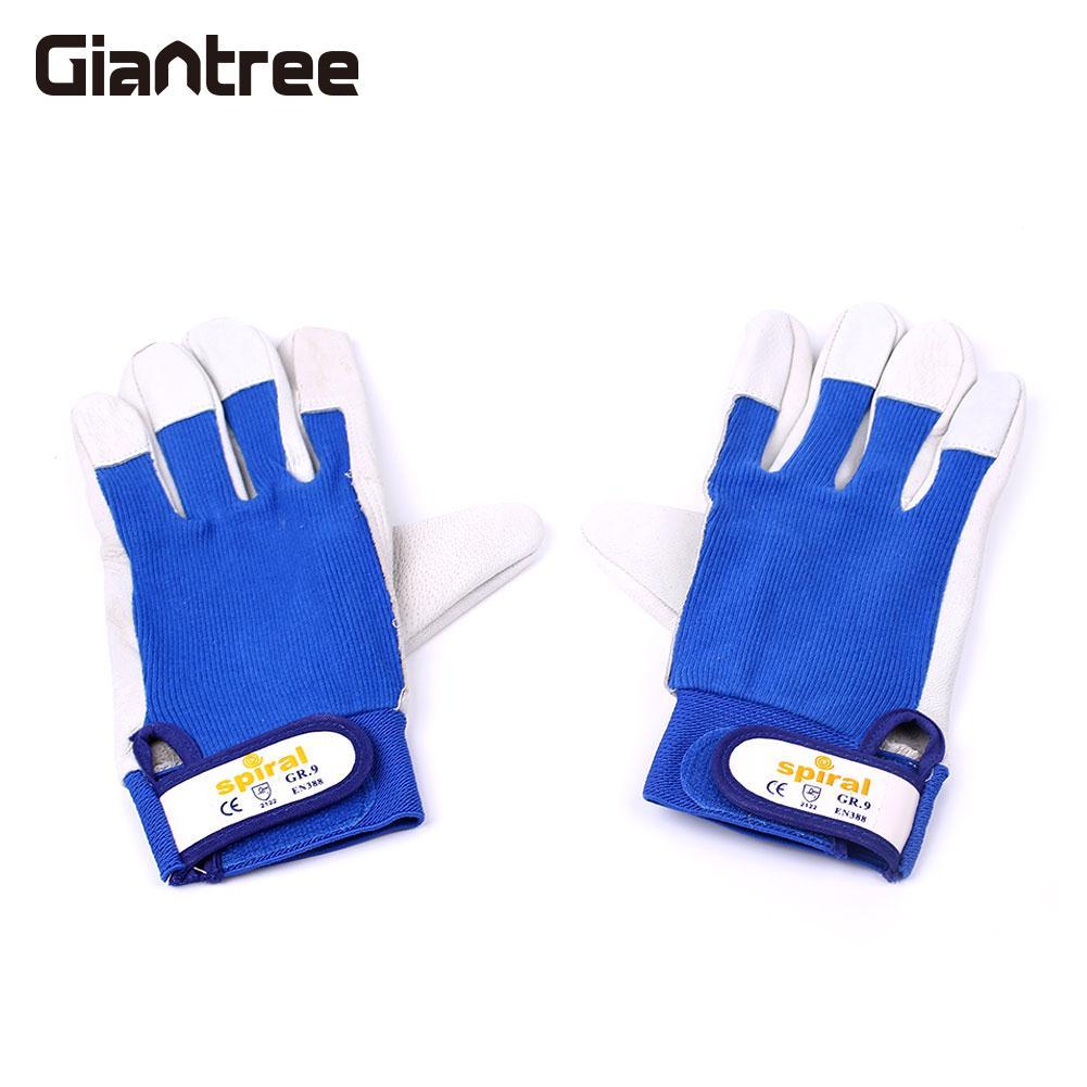 1 Paar Arbeit Schweißen Handschuhe Feuerfeste Hitzebeständigen Schweißer Sicherheit Schutz