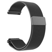 Malha de Aço inoxidável Pulseira de Relógio Banda Magnética Relógio Relógio Pulseira de Relógio de Substituição Para Xiaomi Amazônia Bip Juventude