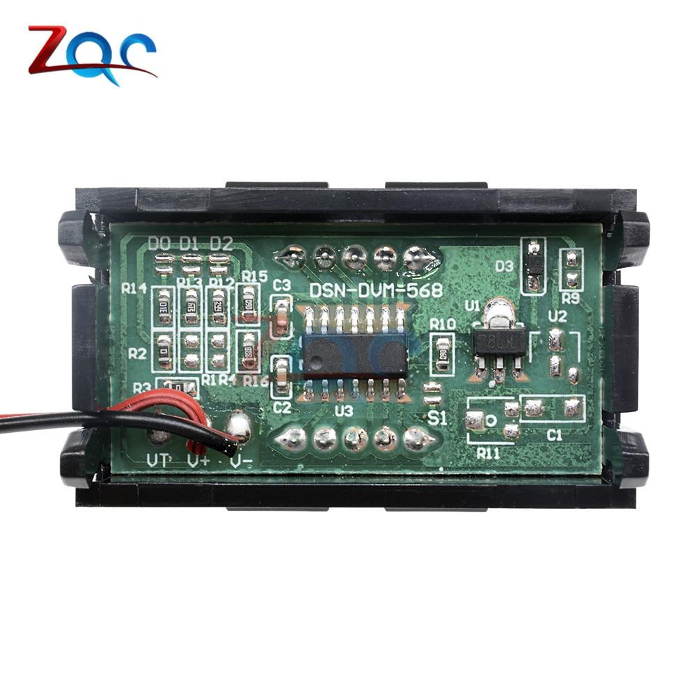 HTB1B XpXlOD3KVjSZFFq6An9pXaT 0.56'' Mini LED Digital Voltmeter Detector DC 0-100V 12V 24V Voltage Capacity Monitor Volt Panel Tester Meter For Motorcycle Car