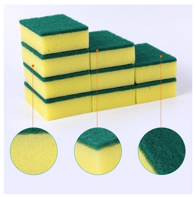 10 Unids de alta densidad esponja cocina esponja limpia frote baño - Bienes para el hogar - foto 4