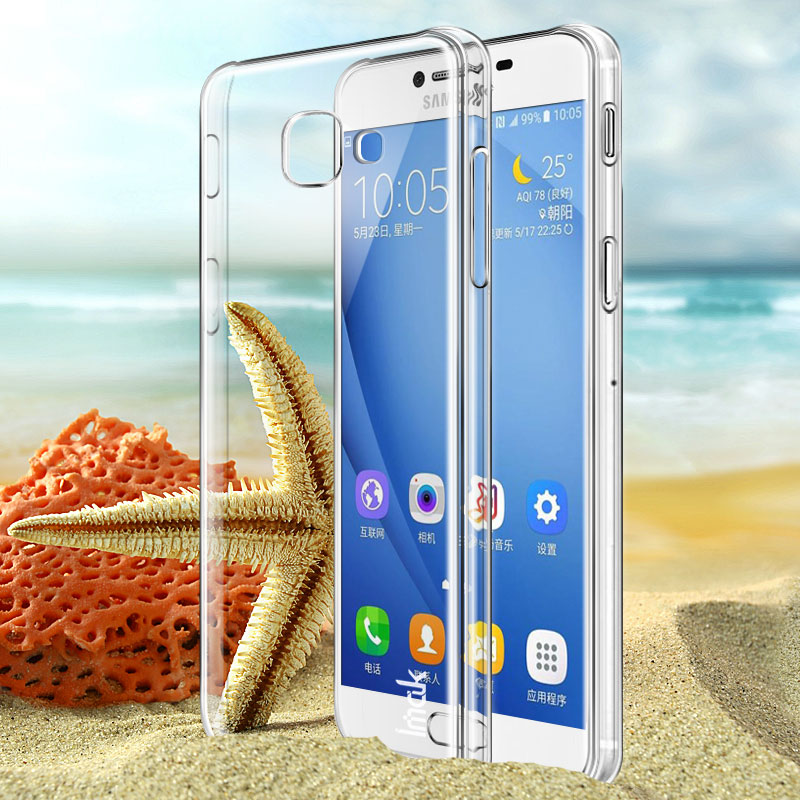 For Samsung Galaxy J7 Max Case iMAK Wear Resistant Transparent Crystal Hard Phone Case for Samsung J7 Max Bumper Cover case