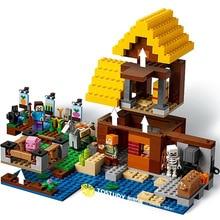 цена на 534pcs Minecrafted Building Blocks Farm Cottage Action Figures DIY Bricks Educational Toys For Kids Legoings DBP340