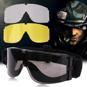 8039923b75 Airsoft Tactical Goggles Sunglasses Military Grey Army Paintball Goggles 3  Polycarbonate