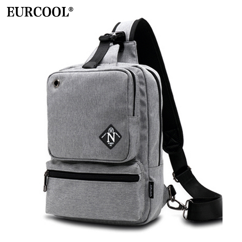 EURCOOL Chest Bag School-Bag Crossbody Large-Capacity 10inch Messenger-Bags Shoulder