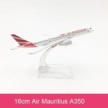 16cm Mauritius Airlines A350 Flugzeug Modell Nation Luftfahrt Luftfahrt Modell A350 Fliegen Airbus Legierung Flugzeug Modell Spielzeug Geschenk cheap Prenoy Metall CN (Herkunft) 1 400 Flugzeuge 3 Jahre alt Unisex
