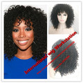 Hot sell !Fashion Natural Black Tight Kinky Curly Short Heat Resistant Synthetic Hair Women Wigs Dark Brown/Blonde/Black/Red