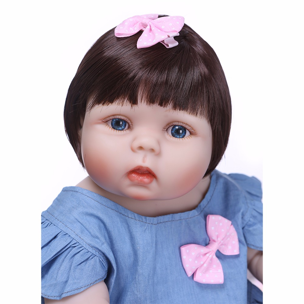 NPK Cute Girl Silicone Reborn Baby Menina Alive 22 Newborn Baby Dolls Full Vinyl Body Bebe Infant Clothes Kids PlaymatesNPK Cute Girl Silicone Reborn Baby Menina Alive 22 Newborn Baby Dolls Full Vinyl Body Bebe Infant Clothes Kids Playmates
