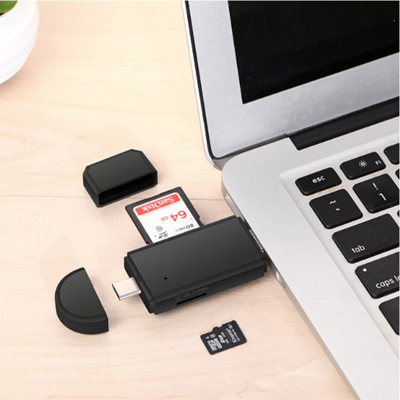 All In 1 Usb 3.0 2.0 Card Reader High Speed SD TF Micro SD Card Reader Type C USB C Micro USB Memory Otg Card Reader amzdeal wholesale 10pcs lot usb otg card reader universal micro usb otg tf sd card reader usb memory card adapter reader