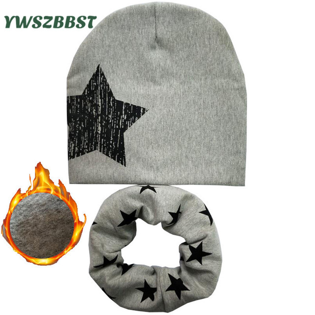 Baby Boy Hat Autumn Winter Baby Caps and Hats Baby Hat set Child Scarf Collars 0-12Y Kids Hats Winter Warm Scarf enfants bonnet
