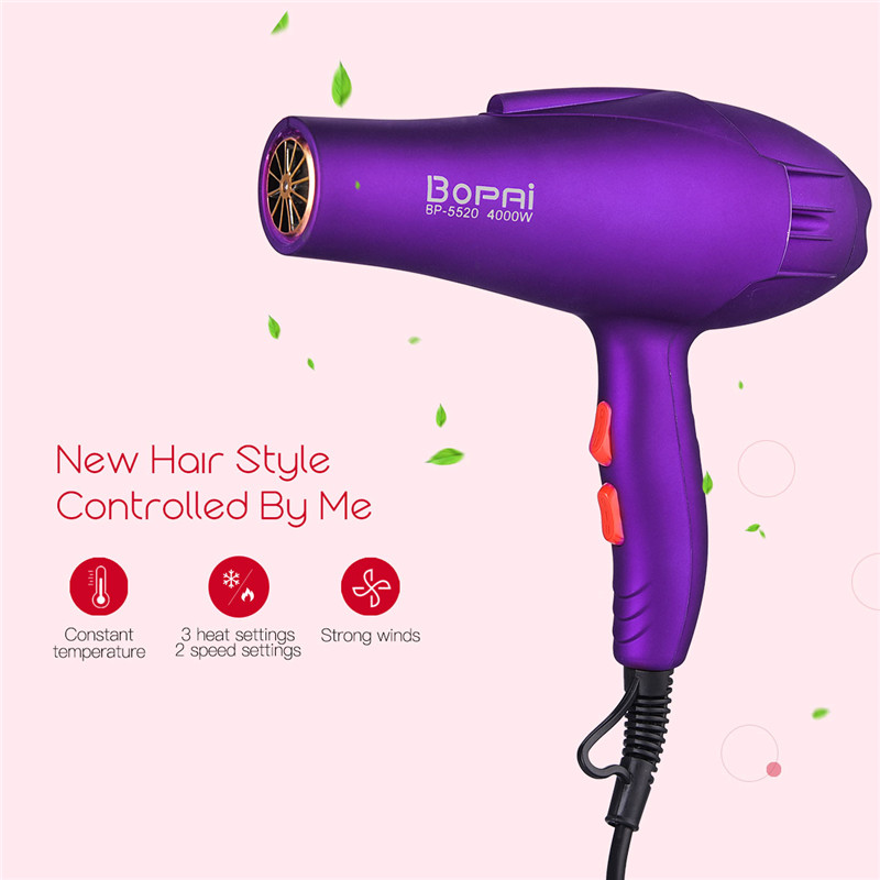 220-240V Electric Professional Hair Dryer For Hair Salon Tool Dryer Hair Styling Hairdryer 4000W Hot Cold Wind Collecting Nozzle