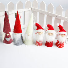 Santa Claus Snowman Angel Doll red Ornaments Pendants Christmas Tree Hanging Decoration Home Wedding Xmas Party Decor 62336(China)
