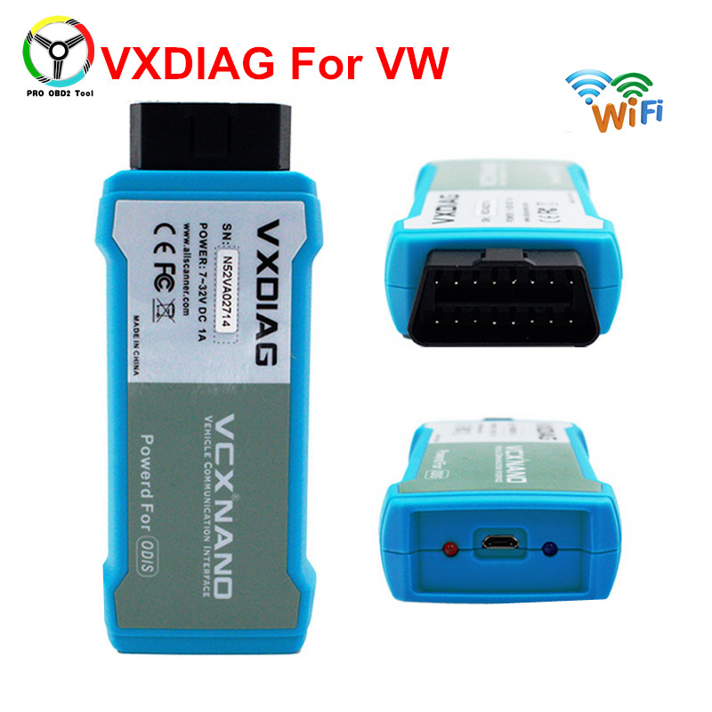 2018 Wifi VXDIAG VCX NANO For VW Compatible With Software Of ODIS Support UDS Protocols For Audi For Skoda With Multi languages vxdiag vcx nano for land rover for jaguar software ssd v141 for all protocols for jlrids v141 free update
