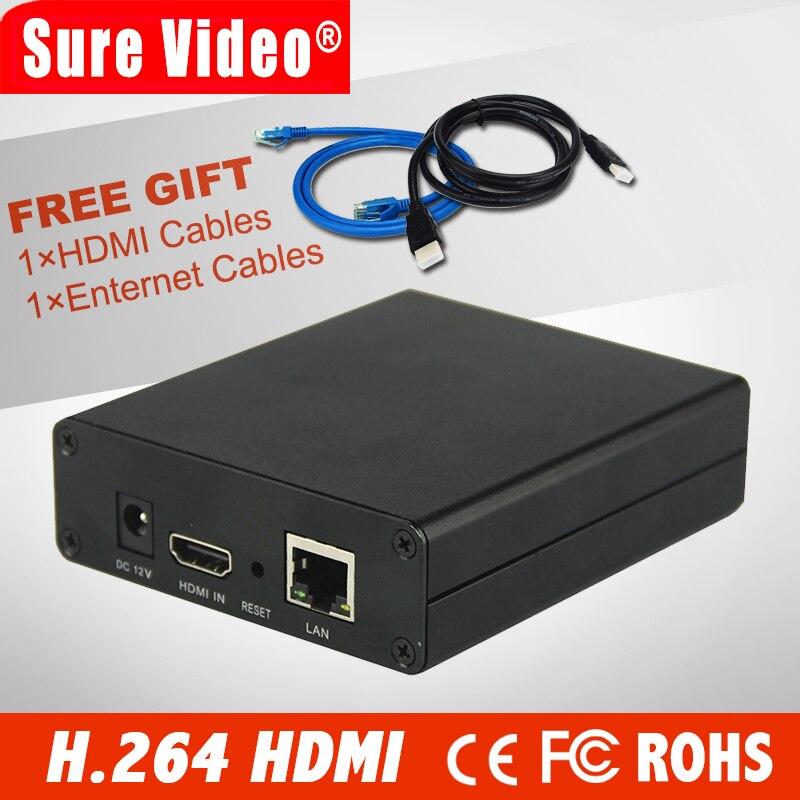 DHL Livraison Gratuite H.264 Encodeur Vidéo prise en Charge HDCP HDMI À IP Live Streaming Codeur IPTV Matériel RTMP RTSP HLS UDP Streamer