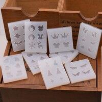 10 stuks/set Snasan Kerst oorbellen bedels silicone Mold Hars Siliconen Mal handgemaakte Sieraden Maken epoxyhars mallen
