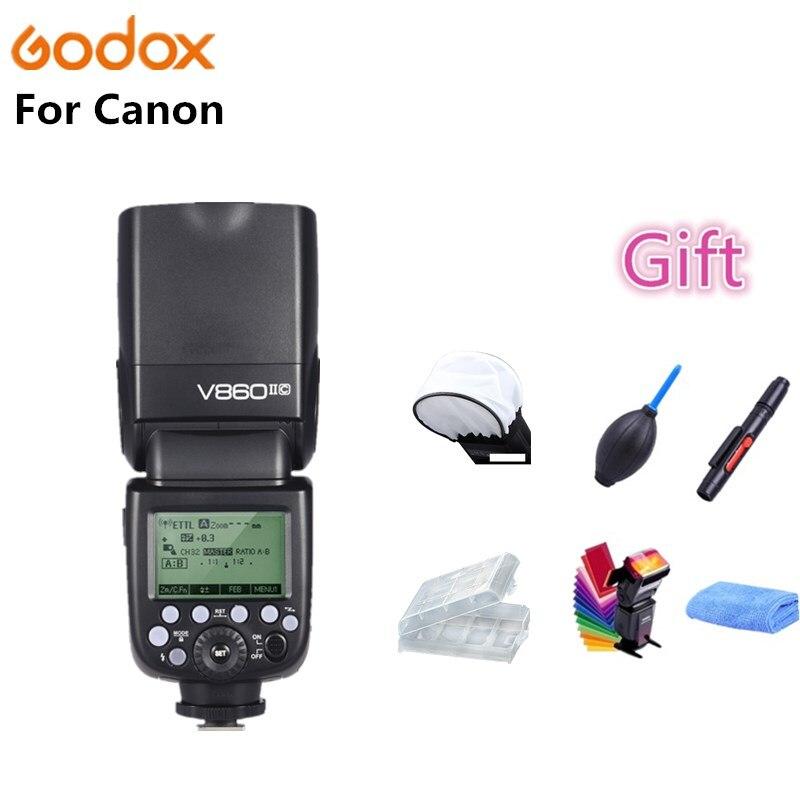 Godox TT600 TT685C TT350C V860II-C Flash Speedlite 2.4G Sans Fil GN60 TTL HSS Maître Auto Zoom pour Canon EOS 70D 60D 5D2 5D3 6D