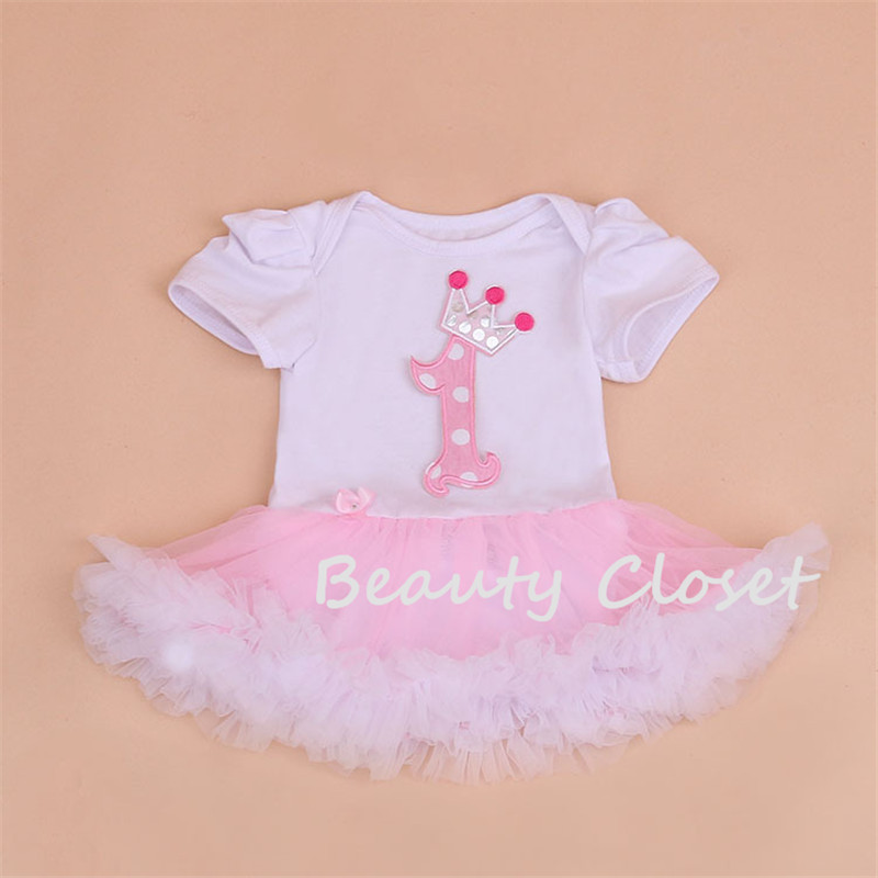 Cute Baby Bodysuit Infant Girl 1st Birthday Onesie Princess Tutu Bodysuit Baby Girl Clothes