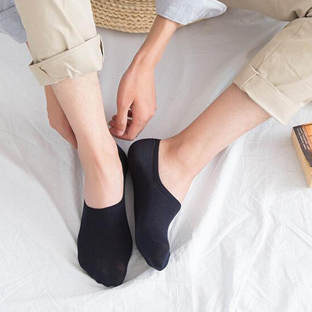 5 Pairs Men's Invisible No Show Nonslip Loafer Boat Ankle Low Cut Cotton Socks