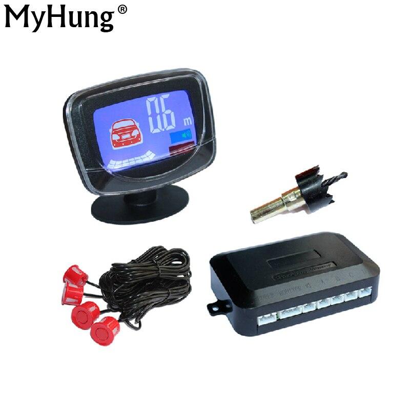 imágenes para Display LCD de coches Sensor de Aparcamiento LCD de 4 Sensores de Aparcamiento Inversa Detector de Radar de copia de seguridad Del Coche Sistema de Kit Para Todo El Coche 1 Unidades