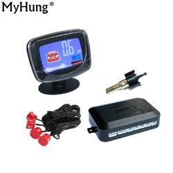 Samochodowy wyświetlacz LCD czujnik parkowania LCD 4 kamera cofania czujniki radar dodatkowy detektor samochodów zestaw do organizacji dla wszystkich samochodów 1 zestaw