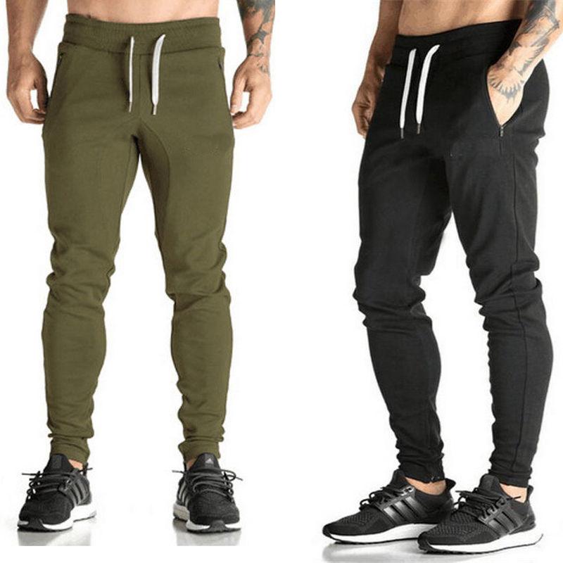 Solid Color Joggers Sweat Pants Trousers Men New Casual Pants Fit Tracksuit Bottoms Men