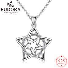 Eudora подлинное 100% Стерлинговое Серебро 925 пробы Звездное