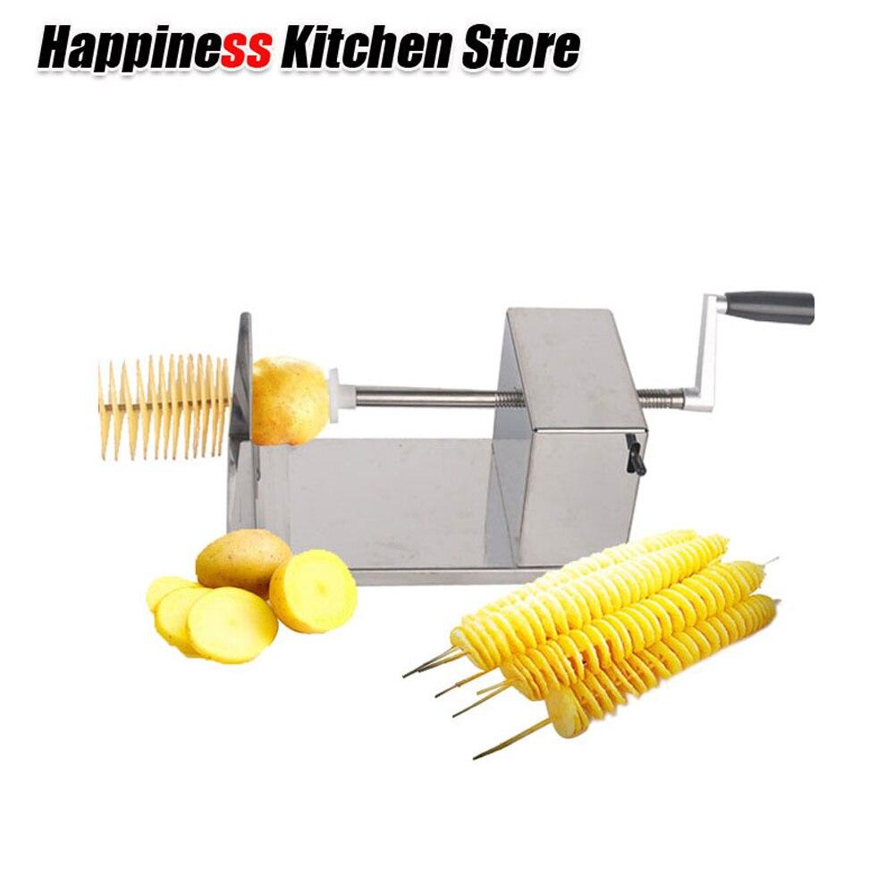 Stainless Steel Twist Potato Cutter Shredders Slicer Tornado Fruit Vegetable Tools Spiral Machine Fruit Vegetable Tools