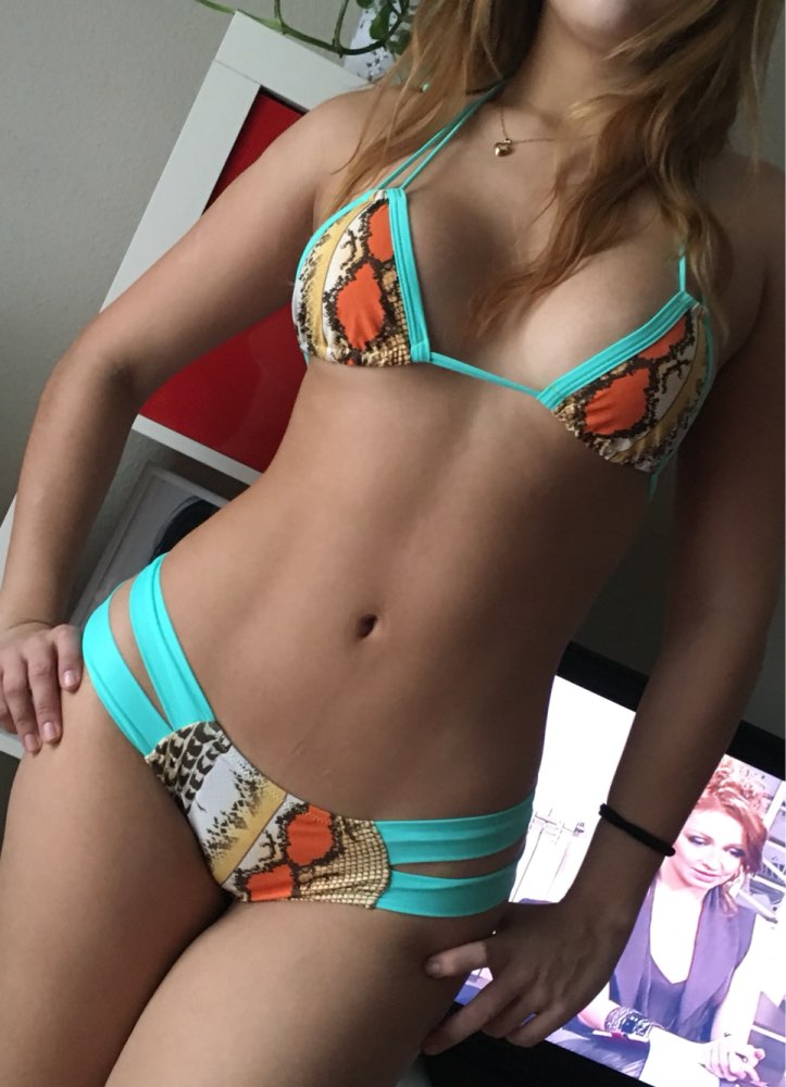 где купить 2017 Lady's Clothing Snake Print Bikinis Set Strappy Brazilian Push Up Bikini Womens swimsuit swimwear bathing suit biquini E192 по лучшей цене