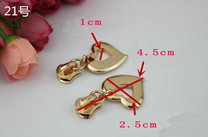 10 cái/lốc zip Kim Loại pullers thông tư piece 5 # dây kéo kim loại đầu Túi diy/quần áo phụ kiện phần cứng
