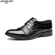 WHOHOLL Oxfords Dress Shoes Men Formal Oxford For Sapato Social Masculino Zapatos De Hombre Vestir