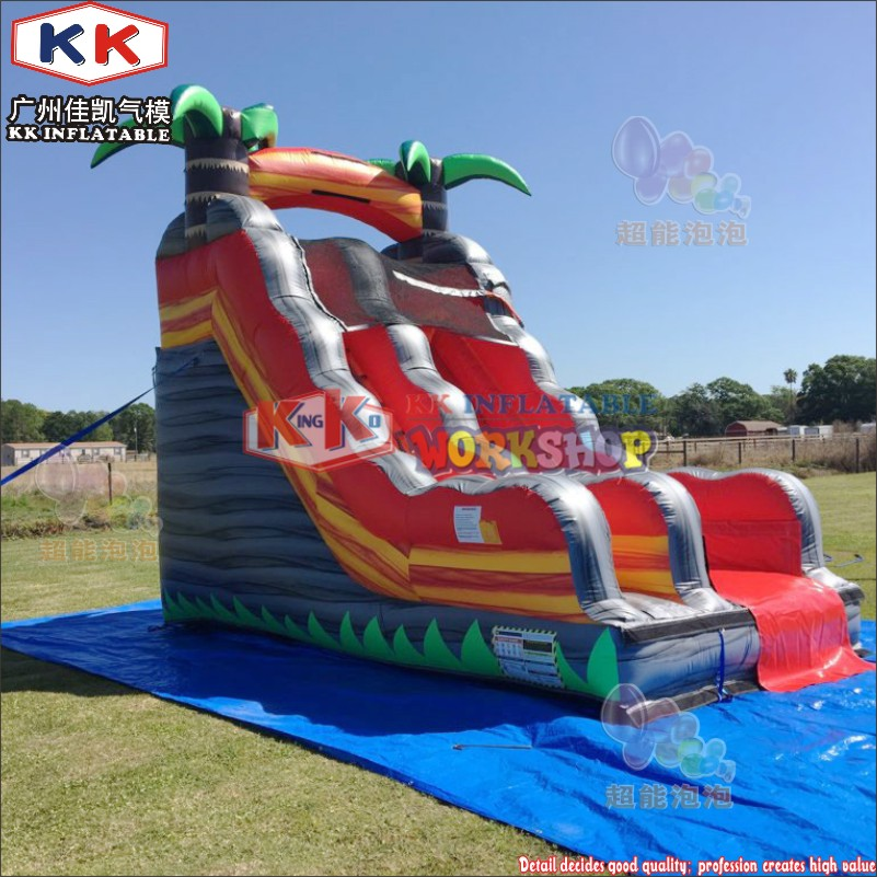 In Stock commercial Inflatable bouncing water slide pool