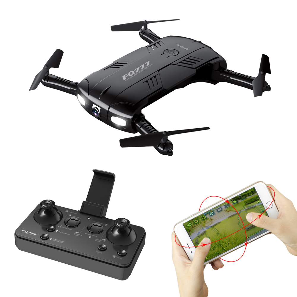 FQ777 FQ05 2.4G 4CH RC Drone with HD Camera WiFi FPV RC Foldable Selfie Drone RTF RC Dron Quadrocopter Mini Drone