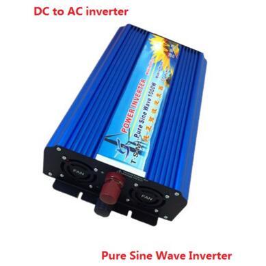 цена на 2000W Peak 1000W Pure Sine Wave Power Inverter 12V/24V/48V DC to 110V/120V/220V AC Solar Inverter Converter Solar Power Supply