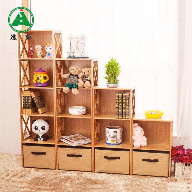 Us 180 79 Furniture Explosion Models Bamboo Bookcase Toy Cabinet Wood Shelves Shelf Cabinet Storage Rack Bookcase Di Lemari Buku Dari Furniture