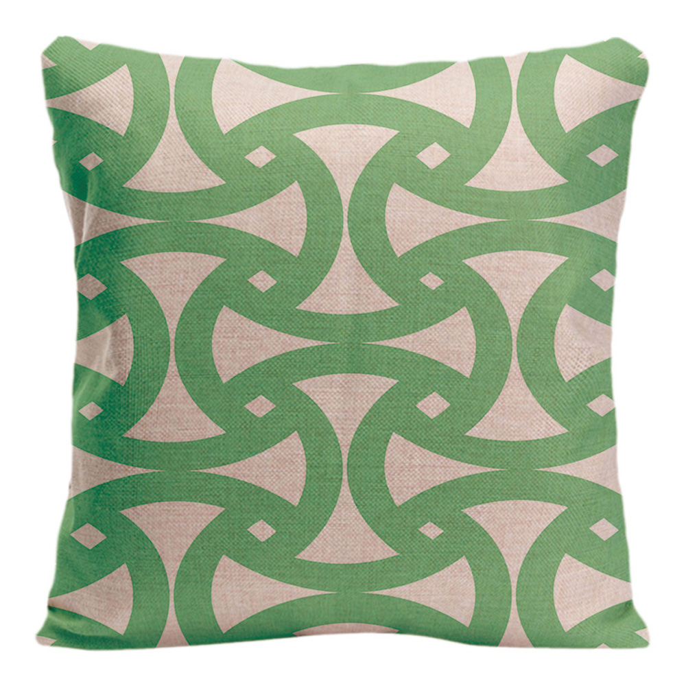 Geometric patterns Cushion Cover Cotton Linen Home Decorative Pillow - Home Textile - Photo 3