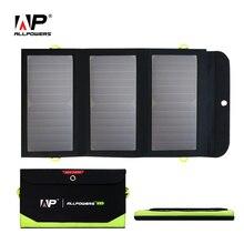 Allpowers Портативный Солнечный Зарядное устройство встроенный Батарея складной Панели солнечные для iPhone 6 6S 7 8 x iPad Samsung HTC Sony LG e. t. c.