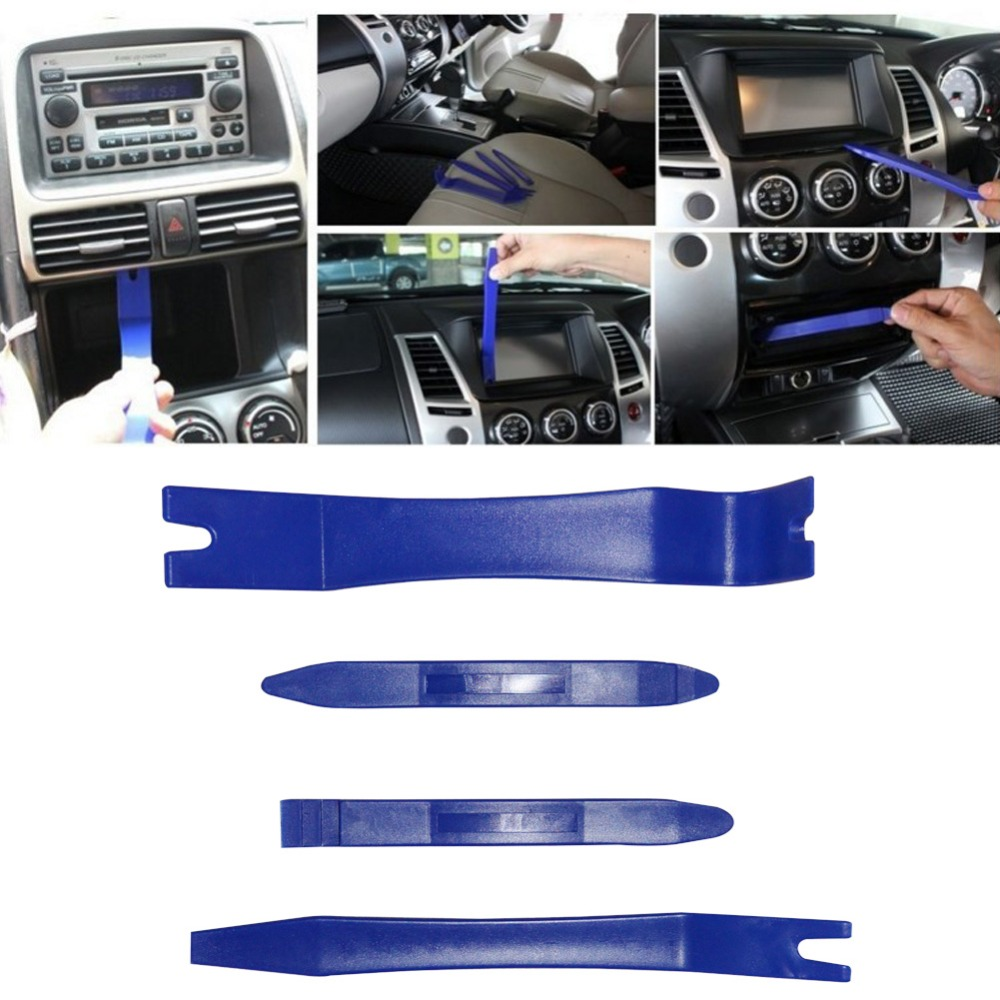 4pcs Car Panel Removal Tools trim removal tool for Audio Removal Installer Pry Repair Tool