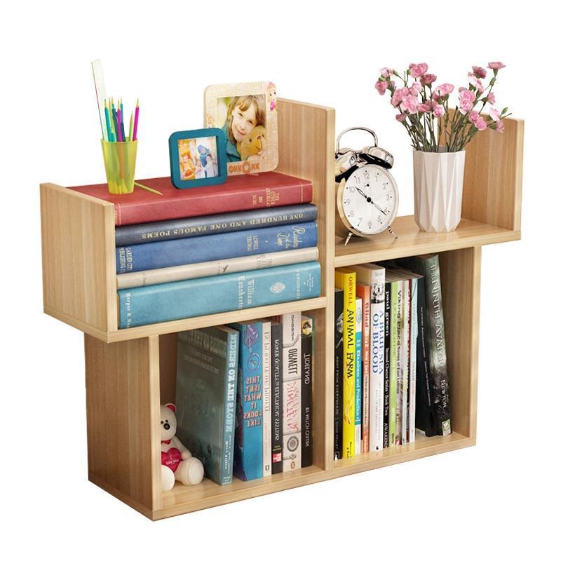 Фотография Desktop Small Mini Bookshelf Simple Modern Student Bookcase Children Desk Storage Shelves
