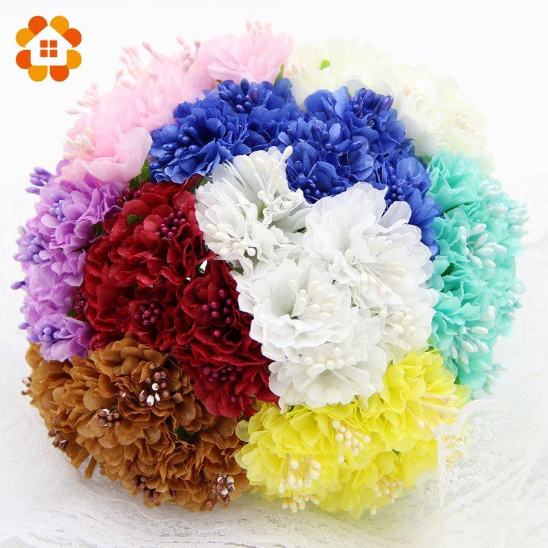 60pcs lot silk artificial daisy stamen diy scrapbooking for Artificial flowers decoration ideas
