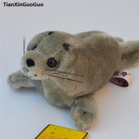 large 42cm gray seal plush toy,soft doll throw pillow birthday gift h2125