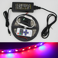 1/5m ip65waterproof 5050 Grow LED Strip Light  led grow lights Greenhouse aquarium light Plant+10 key RF remote+DC 12v power