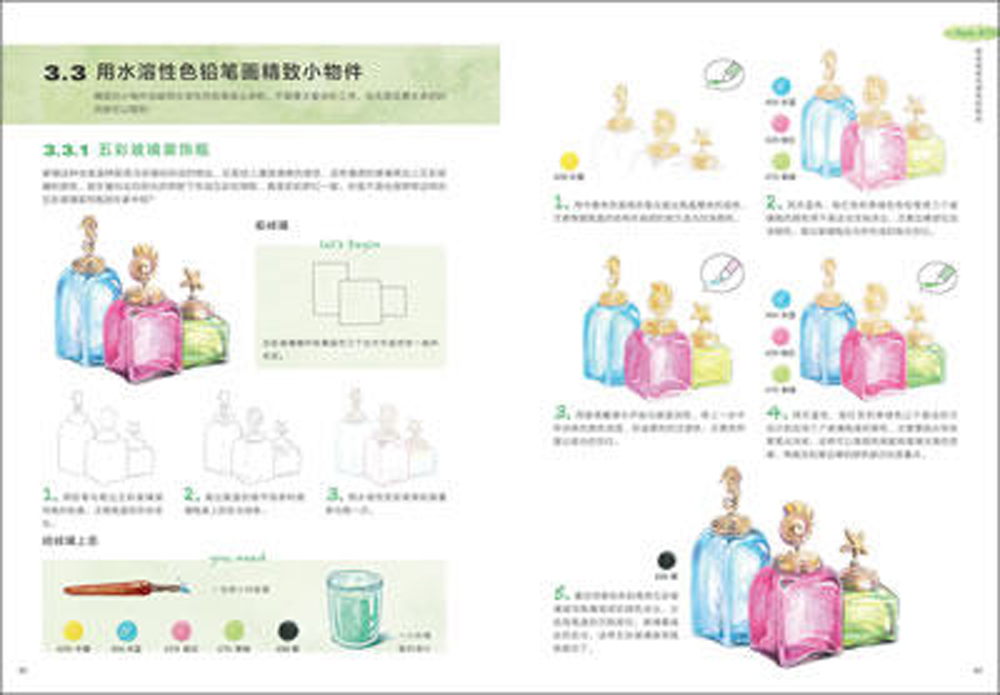 soluvel em agua lapis desenho tecnica chinesa 01