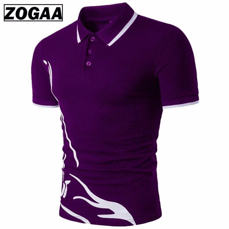 ZOGAA Men Polo shirt short sleeve Casual Cotton Solid Anti-shrink Short Sleeve