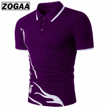 ZOGAA Men Polo shirt short sleeve Casual Cotton Solid Anti-shrink Men Polo Short Sleeve
