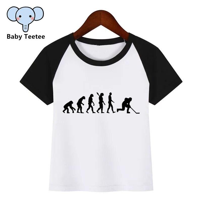 The evolution of ice hockey Kids Printed T-Shirt