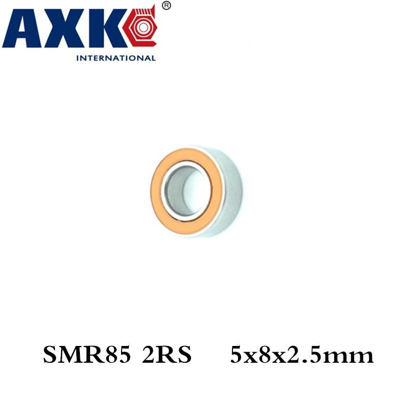 Axk 1pcs 5x8x2.5 Stainless Steel Hybrid Ceramic Ball Bearing Smr85 2rs Cb Abec7 5x8x2.5mm axk free shipping 1pcs 6901 2rs hybrid ceramic si3n4 ball 61901 ceramic bearing 12 24 6mm 6901 2rs